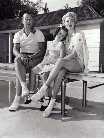 Bob Topping, Cheryl Crane y Lana Turner (Kobal/Shutterstock)
