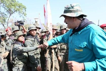 Maduro durante un acto en El Pao (Palacio de MirafloresvíaReuters)
