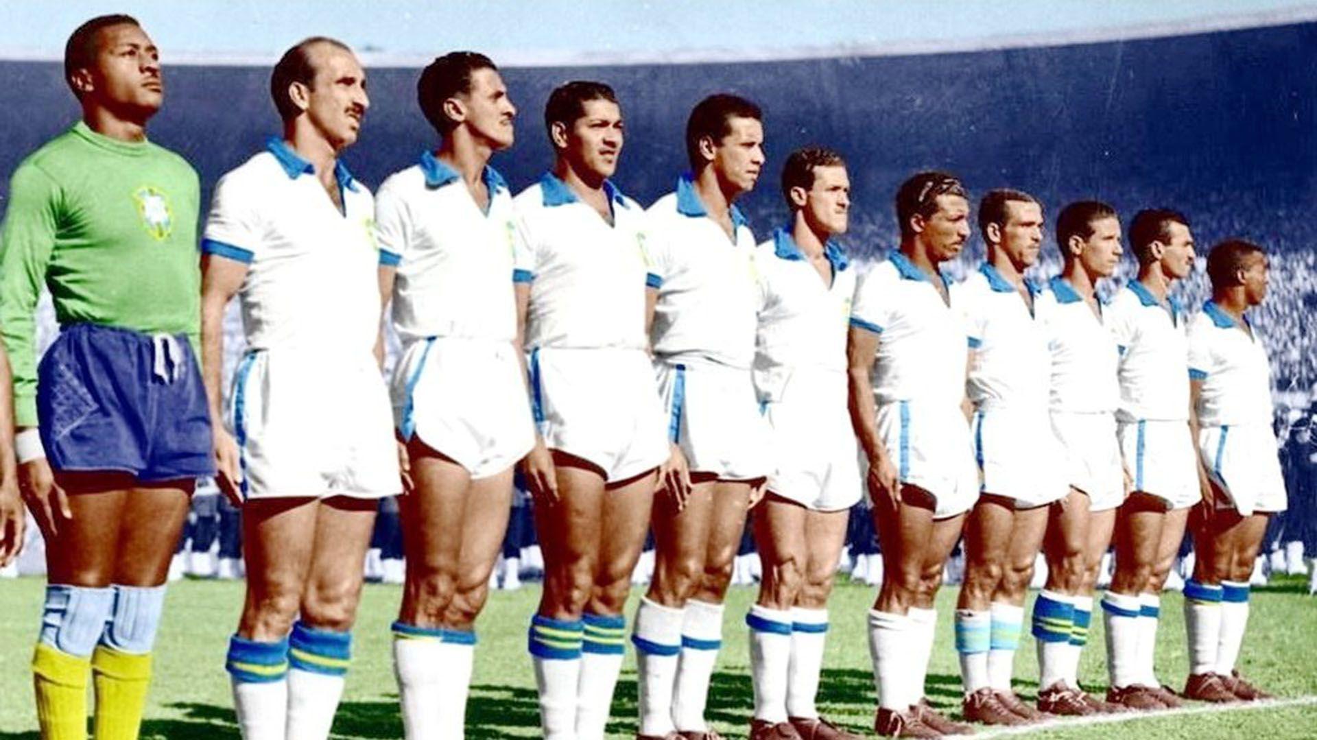 Una imagen histórica: la selección brasileña en la definición del Mundial 1950 en el Maracaná