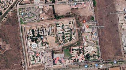 Vista áerea del penal de Aguaruto, ubicado en Culiacán, Sinaloa (Foto: Google Maps)