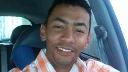 Luis Alejandro Mogollón Velásquez, antes de ser golpeado en la cabeza