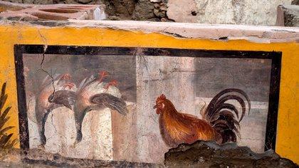 Los primeros análisis confirman que las pinturas del mostrador representan, al menos en parte, los alimentos y bebidas que realmente se vendían dentro del termopolio EFE/Parque Arqueológico de Pompeya/Luigi Spina