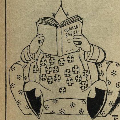 Caricatura de Perón, realizada por Tristán, realizada a fines de 1955. (Del libro 150 caricaturas)