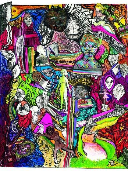 """""""Somos lo que podemos"""", tinta y acrílico sobre papel (100x80cm), en Gachi Prieto"""