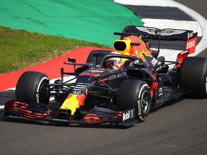 Formula One F1 - 70th Anniversary Grand Prix - Silverstone Circuit, Silverstone, Britain - August 9, 2020 Red Bull's Max Verstappen in action during the race Pool via REUTERS/Bryn Lennon