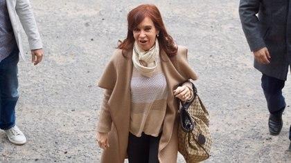 Cristina Kirchner, en su último paso por Comodoro Py (REUTERS/Alberto Raggio)