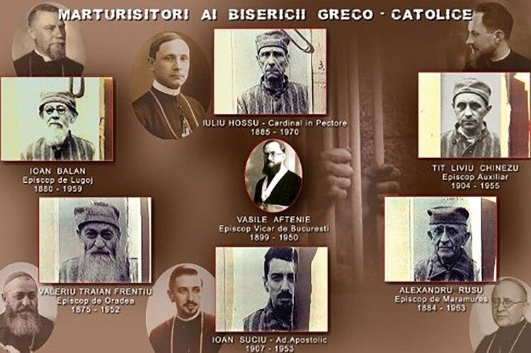 Los siete obispos mártires de Rumania, antes y durante su cautiverio