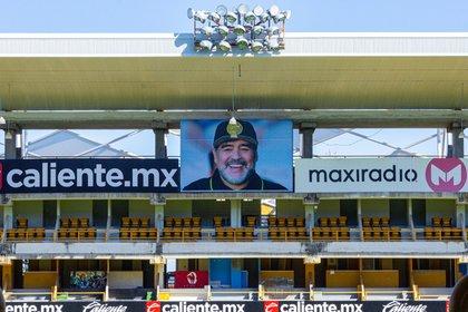 La imagen de Maradona, el nuevo patrono de Dorados de Sinaloa