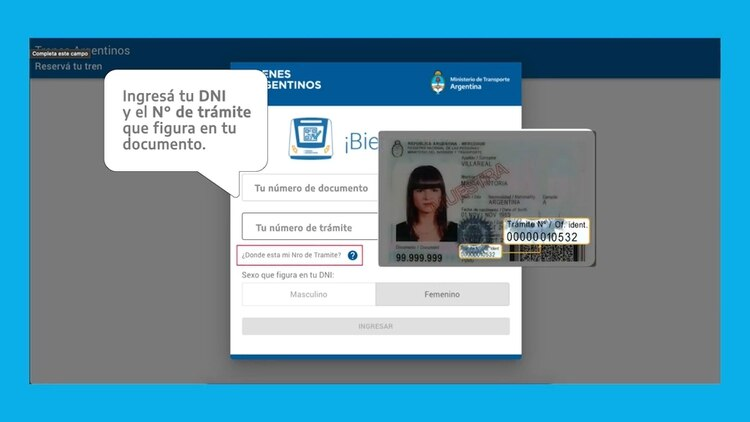 El sistema de reserva de asientos podrá realizarse a través de una aplicación disponible para Android o de la página web de Trenes Argentinos