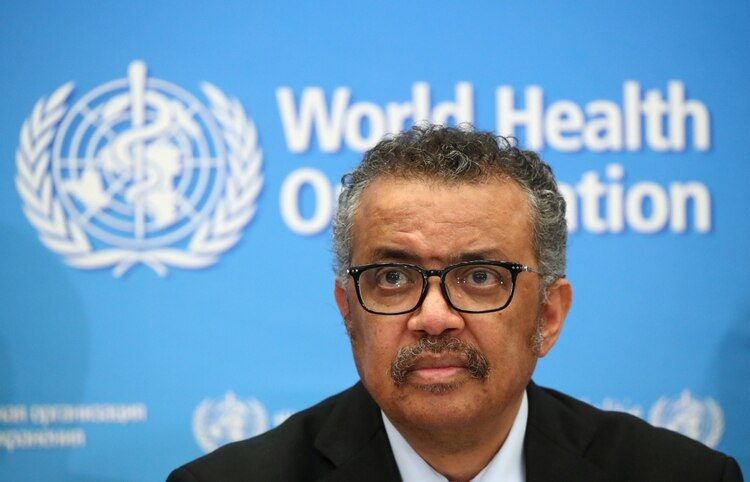 El Director General de la OMS, Tedros Adhanom Ghebreyesus, en la mira del mundo (Reuters)