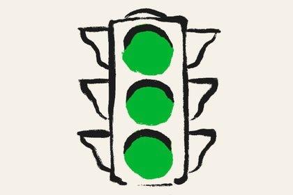 """""""La luz verde significa adelante: avanza, sigue, continúa"""", explicó McConaughey el sentido de la elección del título como metáfora de su vida."""