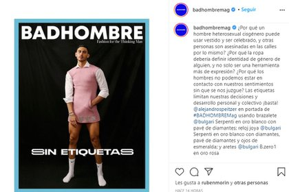 "The publication of the photographs raised controversy, as there were multiple voices who assured that they used the actor as a model ""there is nothing disruptive"" (Photo: Screenshot)"