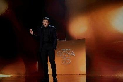 Antonio Banderas, presentador de los Premios Goya. Miguel Cordoba-Academia de Cine/Handout via REUTERS