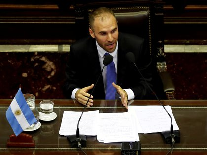 El ministro de Economía Martín Guzmán expuso en el Congreso de la Nación sobre la sostenibilidad de la deuda argentina (REUTERS/Agustin Marcarian)
