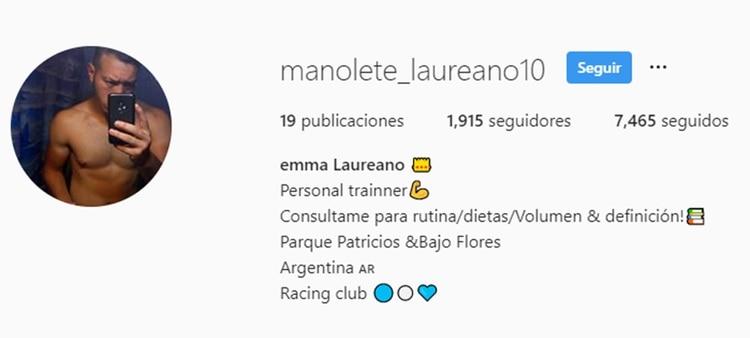 Esta es la cuenta de instagram que utilizaba el acosador de menores