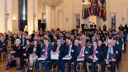 Asistentes a la conferencia sobre Derechos Humanos en Cuba en la sede de la OEA el 7 de diciembre de 2018.
