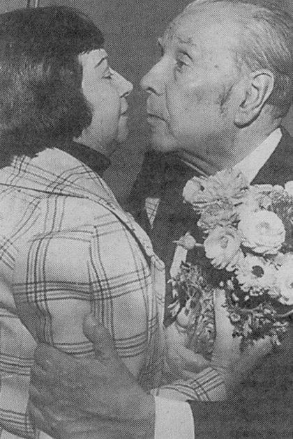 Borges y Bombal en 1976
