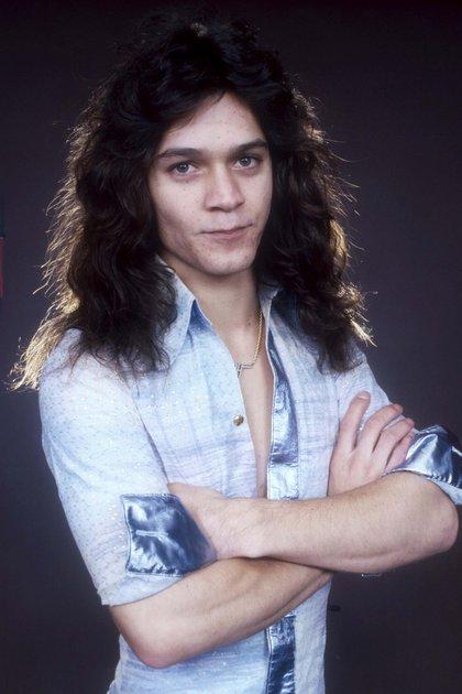 Eddie Van Halen en Londres en octubre de 1978 (Andre Csillag/Shutterstock)