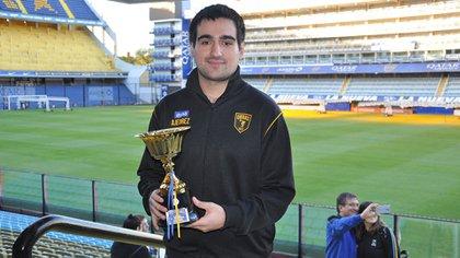 Federico Pérez Ponsa, el zarateño de 25 años que ganó el torneo jugado en el Estadio de Boca Juniors.