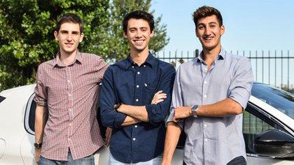 Lucas Abriata, Tomás Galuccio y Tomás Venturo, los socios del nuevo emprendimiento