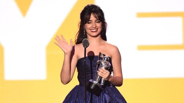 Camila Cabello, la gran ganadora de los MTV Video Music Awards 2018 (AFP)