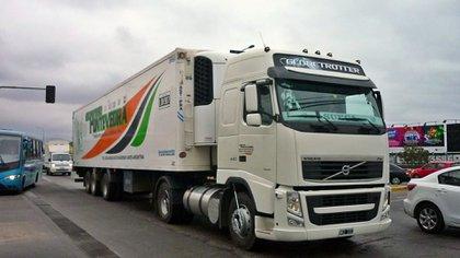 Un camión de la empresa Expreso Pontevedra