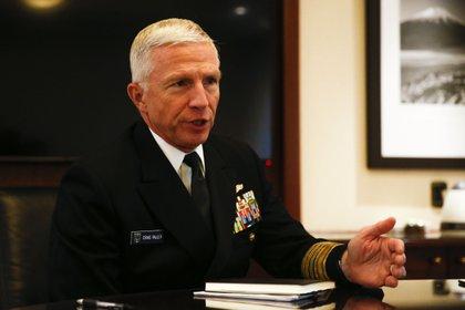 El almirante Craig Faller es el actual jefe del Comando Sur de EEUU (EFE/Alberto Peña)