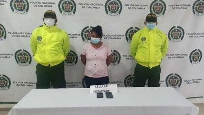 Alias 'La Chiquita' sería la responsable de coordinar un 'Plan Pistola' en el noroccidente de Colombia. Crédito Prensa Policía Nacional