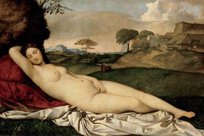 """Venus dormida"" (1510, Gemäldegalerie Alte Meister, Dresde, Alemania)"