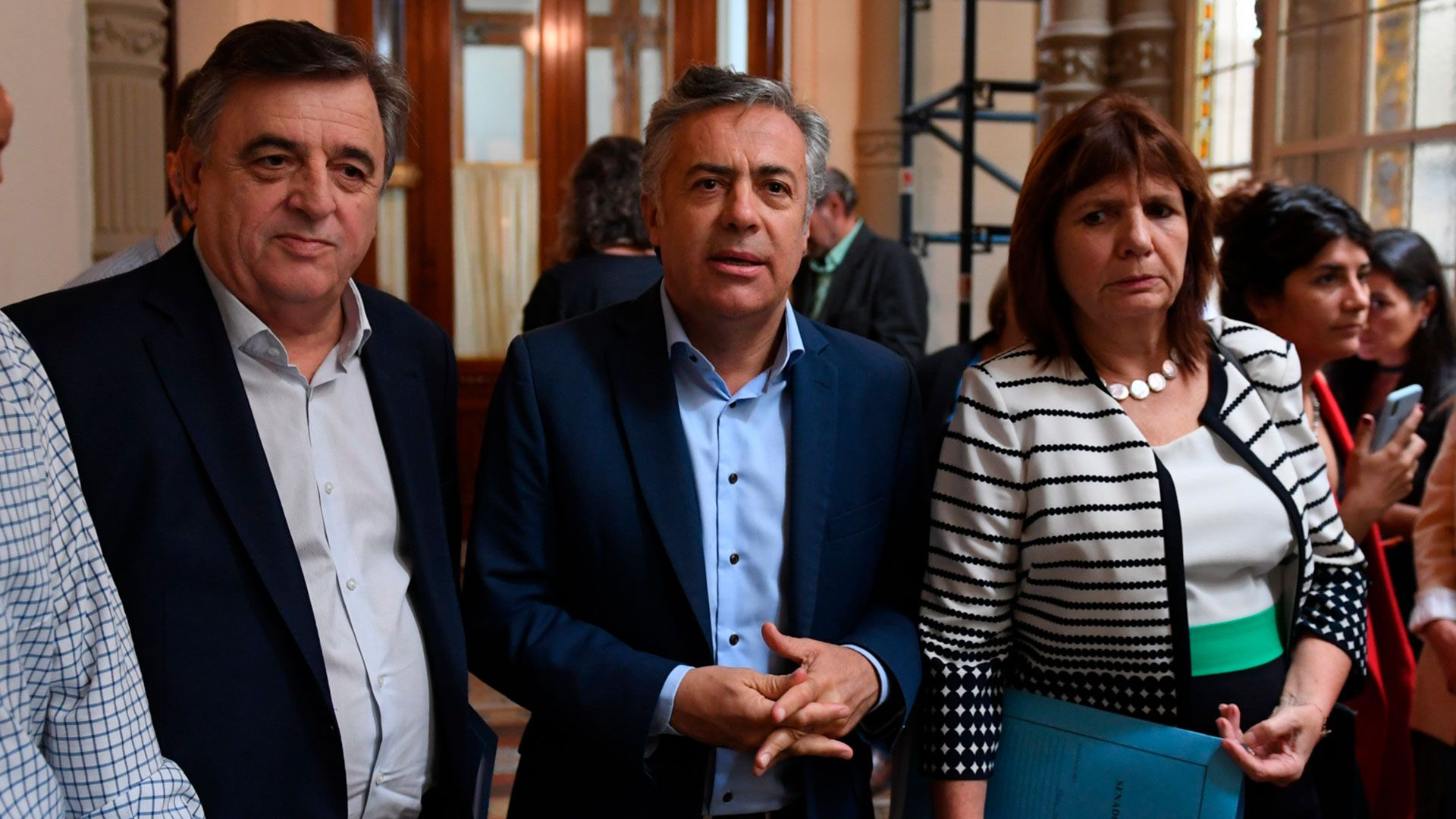 Entre otros dirigentes de la oposición, Negri, Cornejo y Bullrich manifestaron su repudio a la iniciativa (Maximiliano Luna).