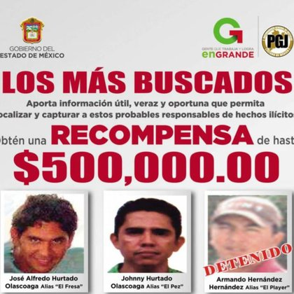 """Johnny Alfredo Hurtado Olascoaga, alias """"El Pez"""", es identificado como líder de la Familia Michoacana en Estado de México  (Foto: FGJEM)"""