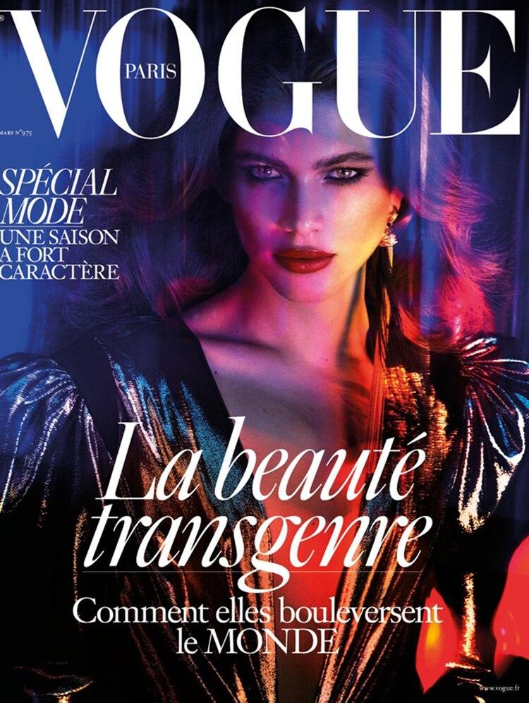 La tapa de Vogue en la que Sampaio fue protagonista