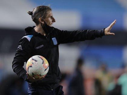 Sebastián Beccacece lamentó la actuación del VAR en el empate de Racing y Flamengo por la Copa Libertadores (REUTERS/Juan Ignacio Roncoroni)