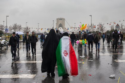 11/02/2019 Imagen de archivo de una mujre con una bandera de Irán. POLITICA INTERNACIONAL CONTACTO