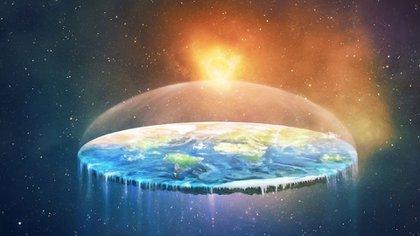 Para los terraplanistas, el mundo se sostiene sobre una gran llanura que flota en el espacio