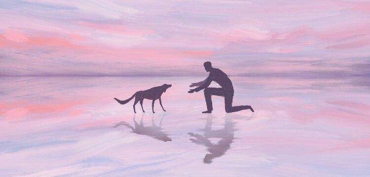 Según un estudio, los perros procesan espontáneamente secuencias básicas numéricas utilizando una parte distintiva de sus cerebros que coincide con la región neuronal que responde a los estímulos numéricos en los humanos (ilustración: Jialun Deng/The New York Times)