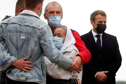 Sophie Petronin en su vuelta a Francia. Foto: REUTERS/Gonzalo Fuentes/Pool
