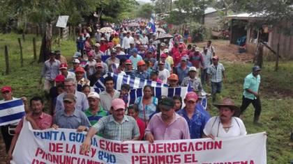 Mairena lideró las protestas de los campesinos contra la construcción de un canal interoceánico concesionada a una compañía china que amenaza arrasar con su pueblo