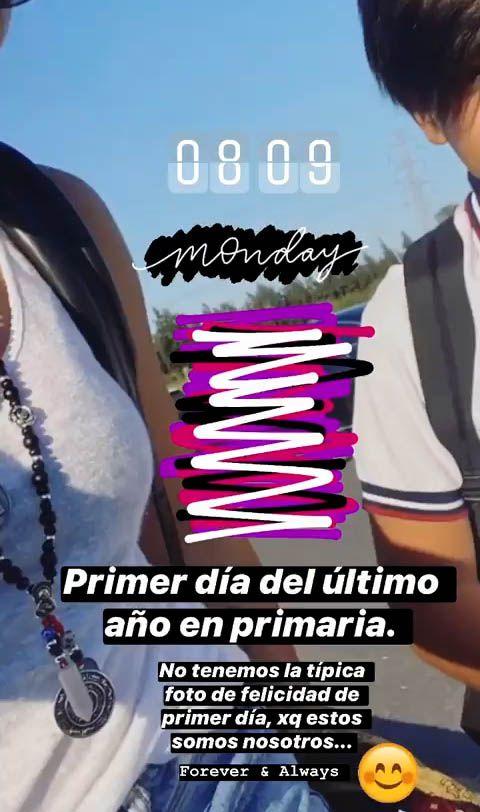 Gianinna Maradona subió una foto distinta del primer día del inicio escolar (Instagram)