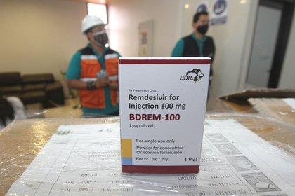 Una dosis de Remdesivir, parte de un lote que distribuido en Bolivia  (Foto: EFE/ Juan Carlos Torrejón/Archivo)