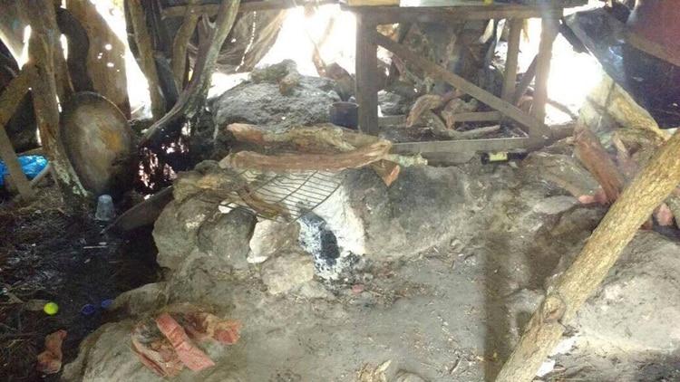 Uno de los campamentos del CJNG descubierto en agosto de 2017 (Foto: Fiscalía de Jalisco)