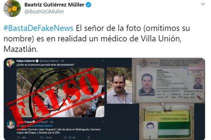 La respuesta de Gutiérrez Müller al tuit de Felipe Calderón