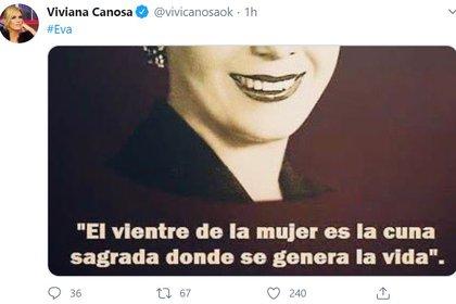 Otro de los tuits de Canosa