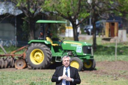 Alberto Fernández en Agronomía (Foto: Franco Fafasuli)