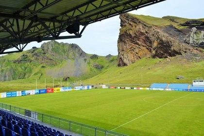 El estadio del IBV, en Heimaey