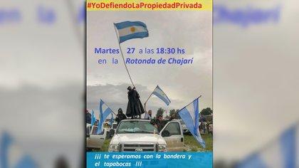 La movilización en Chajarí
