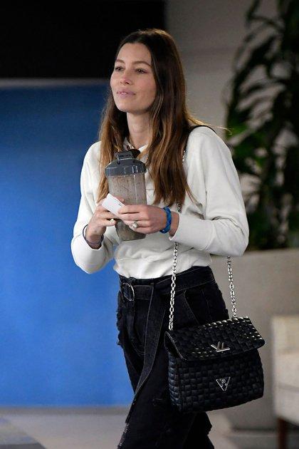 Jessica Biel es vista tras las fotos de Justin Timberlake con Alisha Wainwright /The Grosby Group