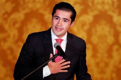 Imagen de archivo del ministro de Economía ecuatoriano, Richard Martínez, durante una conferencia de prensa en Quito, Ecuador, Mayo 16, 2018. REUTERES/Daniel Tapia