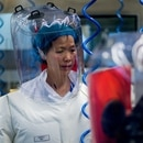 (FILES) This file photo taken on February 23, 2017 shows Chinese virologist Shi Zhengli inside the P4 laboratory in Wuhan, capital of China's Hubei province. - The P4 epidemiological laboratory was built in co-operation with French bio-industrial firm Institut Merieux and the Chinese Academy of Sciences. The facility is among a handful of labs around the world cleared to handle Class 4 pathogens (P4) - dangerous viruses that pose a high risk of person-to-person transmission. (Photo by JOHANNES EISELE / AFP)