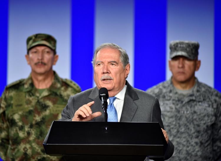 Guillermo Botero, ministro de Defensa de Colombia. (REUTERS)